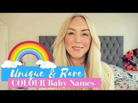 Unusual and Rare Colour Baby Names for boys and girls | SJ STRUM Color Name List