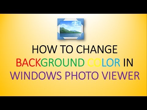 How to Change Background Color in Windows Photo Viewer