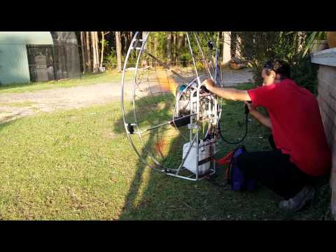 200cc DLE Paramotor Engine First Run