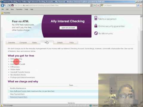 Eye tracking while participant works on a task on the Ally Website.