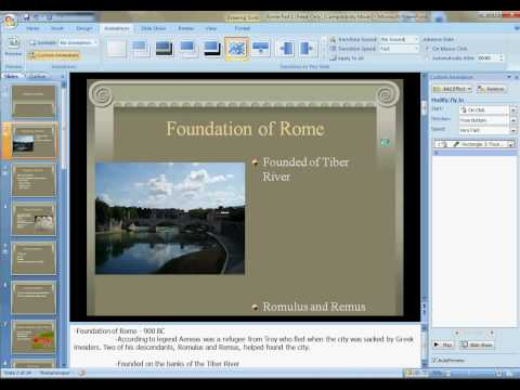 Powerpoint 2007: Add Animations