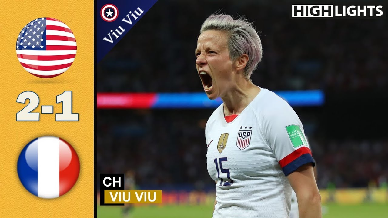 [ Quarter - Final ] USA vs France 2-1 All Goals & Highlights | 2019 WWC