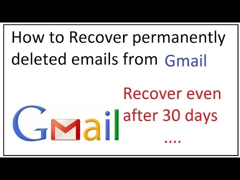 how to recover gmail deleted mails,which are permanently deleted