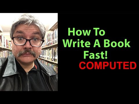How To Write A Book Fast!