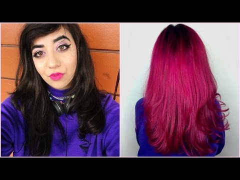 BLACK HAIR TO PINK HAIR IN ONE DAY