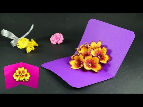 How to Make Pop Up Cards - Pop Up Flower Card DIY Tutorial