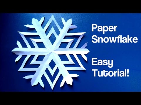 Paper Snowflake - Easy Tutorial (4K)
