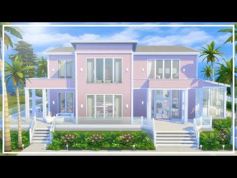 BARBIE BEACH HOUSE // The Sims 4: Speed Build