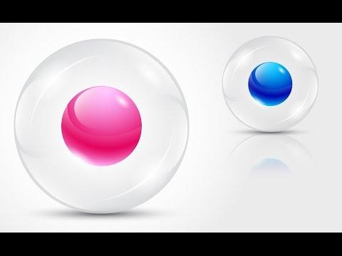 How to create 3D Logo Design (Transparent sphere) in Adobe Illustrator CS5 HD1080p