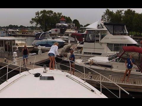 Docking At Peterborough Marina - Sit Back Sunday GoPro Boat Cruise