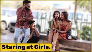 2 Guys Staring at Girls Prank   The HunGama Films