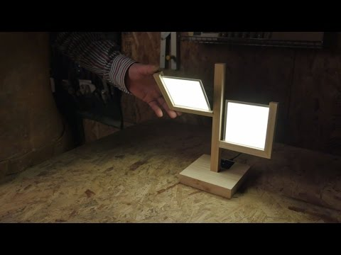 How to make a Table Lamp with LG Display OLED light DIY kit