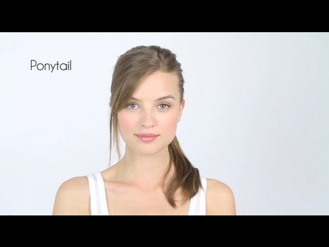 Easy Side Bangs Without Scissors & Ponytail How-To