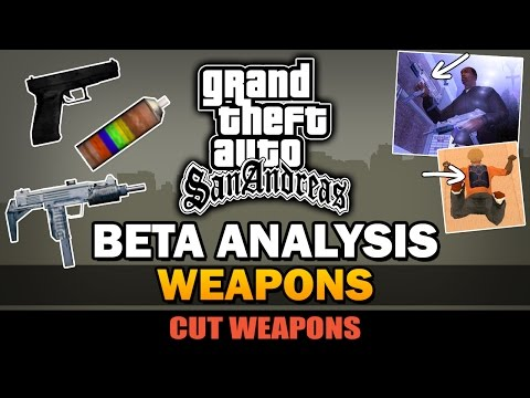 GTA San Andreas - Beta Weapons [Analysis]
