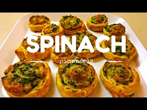 How to make Spinach Pinwheels from Puff Pastry Sheets| Spinach Swirls