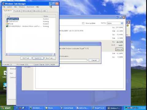 Uninstall Skype 6.18 on Windows XP