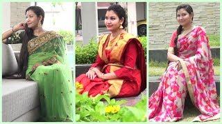 Saree lookbook 2017 ft.Voonik/indiangirlchannel Trisha