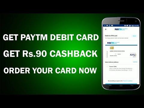 Get Rs.90 Cashback for Ordering Your Paytm Debit Cards !! Paytm Debit Card Offer 2018 !!