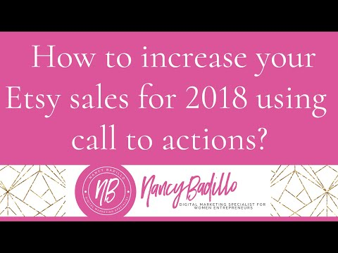 How to increase your Etsy sales for 2018 using call to actions?