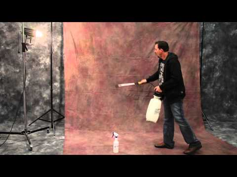 Quickly removing wrinkles from your Muslin Backdrops - Studio Photography Tutorial Silverlake Photo