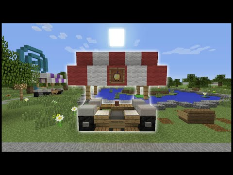 Minecraft Tutorial: How To Make A Food Stand
