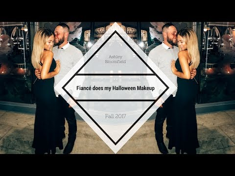 Fiancé Does My Halloween Makeup | Ashley Bloomfield