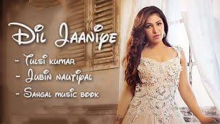 DIL JAANIYE | Video song | Jubin Nautiyal | Tulsi Kumar ||Sahgal music book||