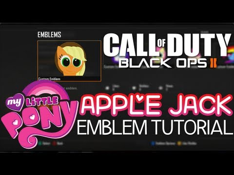 APPLEJACK (MY LITTLE PONY) EMBLEM TUTORIAL for BLACK OPS 2