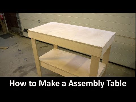 How to make a Plywood Assembly Table/Workbench