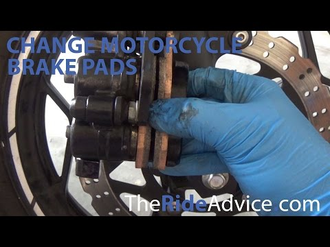 How to Change Motorcycle Brake Pads | Replace Motorcycle Brake Pads