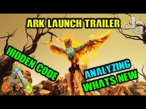 ARK Launch Trailer - Analyze - Whats new - Hidden code - Phoenix - Otter - New Bionic skins