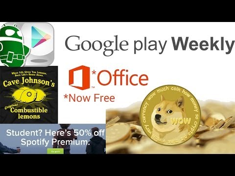 Microsoft Office now free, Portal for Android coming, dogecoin mining apps exist! - Google Play Week