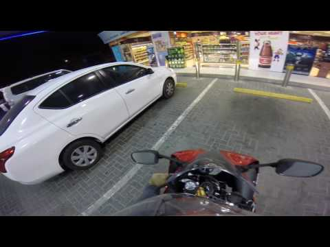 Getting my Salik tag 4 in the morning Dubai bikes YZF-R1 Yamaha R1