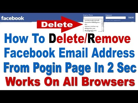 How to Delete/Remove Facebook Email Address From Login Page All Browsers( 🔯 Easily 🔯)