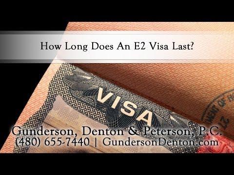 How Long Does An E2 Visa Last?
