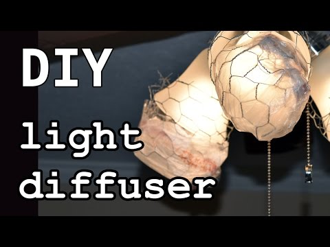 DIY Light Diffuser - Chicken Wire and Grocery Bags Diffusion Cover - 98% Recycled Material