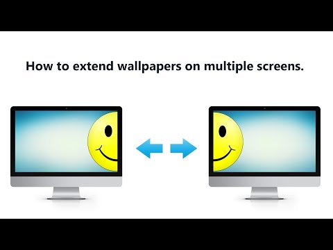 How to extend wallpapers on multiple screens.