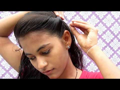 side puff hairstyle with ponitail  || how to make side puff ponitail