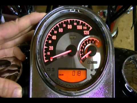 How to Configure and Setup the Harley Davidson Speedometer Tachometer #70900070A