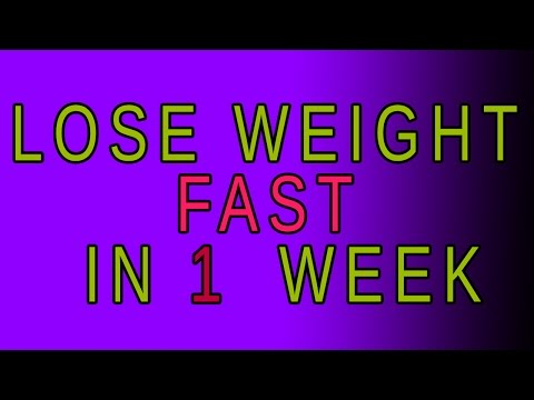 How to Lose Weight in A WEEK | New Way to Lose Weight in a Week