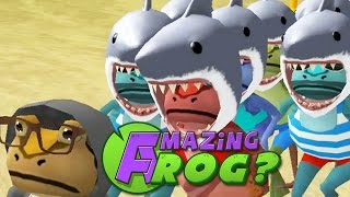 CRAZY SHARK HEADED FROGS - Amazing Frog (Update Beta) - Part 49 | Pungence