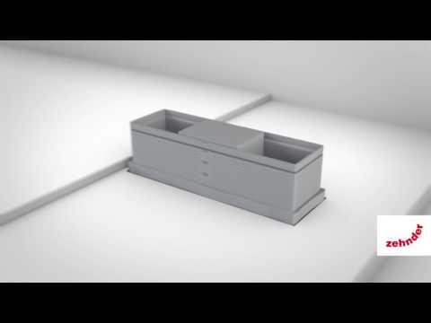 Zehnder comfortable indoor ventilation: Installation and functions Zehnder CLF grille housing