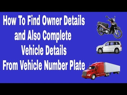 How To Find Owner from Vehicle Number Plate( RTO VEHICLE DETAILS )
