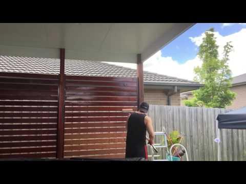 Sealing a timber screen I built Part 1 of 2