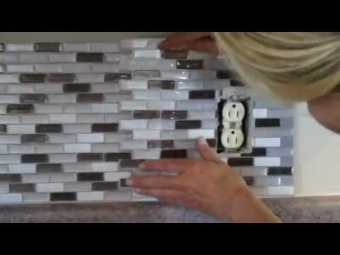 How to Cut Peel and Stick Smart Tiles Around an Electrical Outlet?