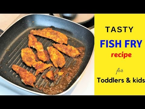 Tasty Indian Fish Fry recipe ( for toddlers & kids ) - Easy Boneless fish fry recipe