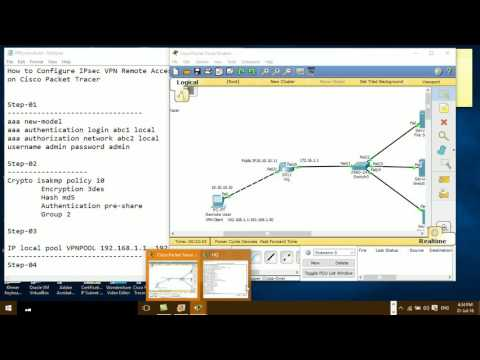 How to Configure VPN Remote Access+IPsec on Cisco Router#02