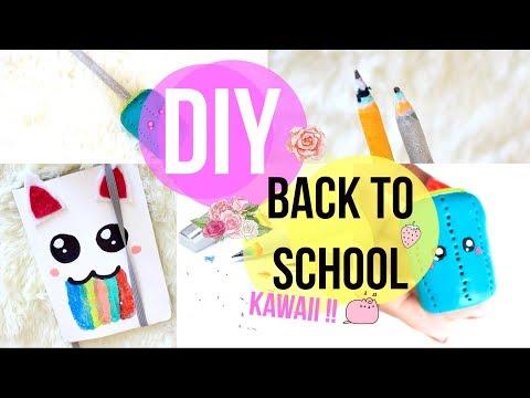 DIY Back to School Kawaii & Cute (Agenda, Crayon, Fimo, etc...)🌙