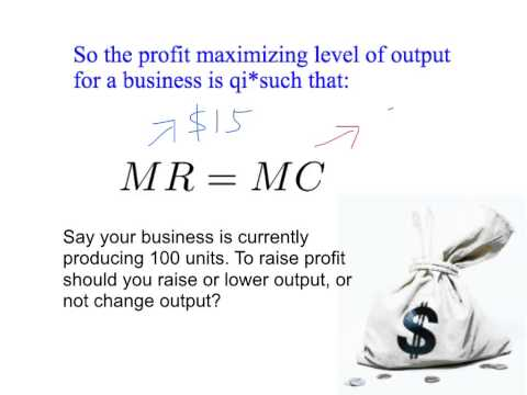 13c: The mathematics of profit maximization - profit