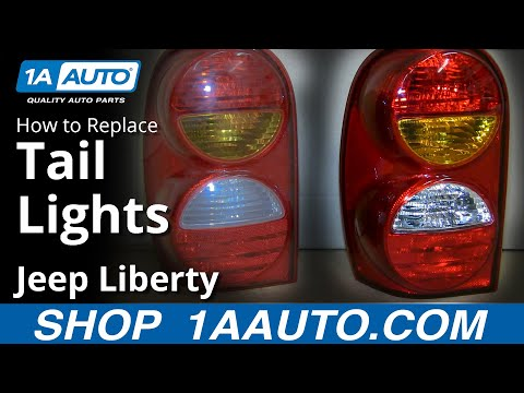 How To Install Replace Fix Broken Taillight 2002-04 Jeep Liberty